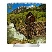 Crystal Mill Summer Landscape Shower Curtain