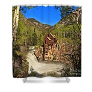 Crystal Mill Through The Trees Shower Curtain