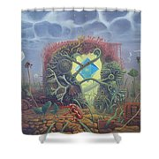 Crystal Of Transition Of Master Siu-uo - The First Transition Shower Curtain
