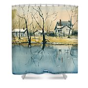 Crystal River View Shower Curtain