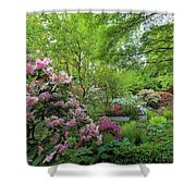 Crystal Springs Rhododendron Garden In Bloom Shower Curtain
