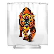 Crystal Tiger - 94 Shower Curtain