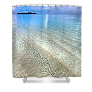Crystal Water Of The Ocean Shower Curtain by Jenny Rainbow
