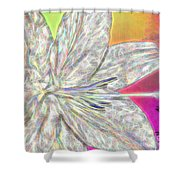 Crystal White Lily Shower Curtain