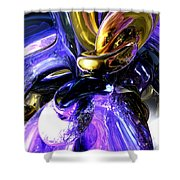 Crystalized Ecstasy Abstract  Shower Curtain