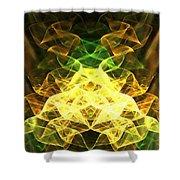 Crystalline Forest Shower Curtain