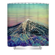 Crystalline Mountain Shower Curtain