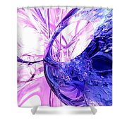Crystallized Abstract Shower Curtain