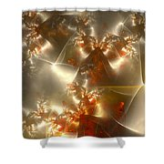 Crystals Of Gold Shower Curtain