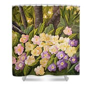 Crystal's Primroses Shower Curtain