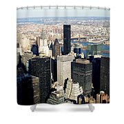Crystler Building 2 Shower Curtain
