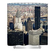 Crystler Building Shower Curtain