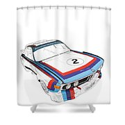 Csl Batmobile Shower Curtain