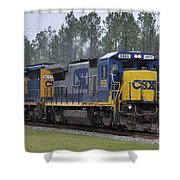 Csx 5955 Through Folkston Georgia Shower Curtain