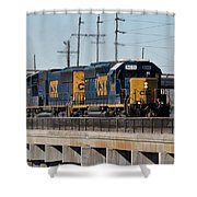 Csx 8011 Bone Valley Bound Shower Curtain