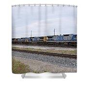 Csx Inbound At Rice Yard Shower Curtain