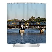 Csx On Mills Bayou Shower Curtain