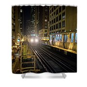 Cta Meet At The State-lake Street Station Chicago Illinois Shower Curtain