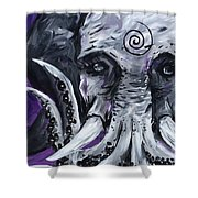 Cthuluphant  Shower Curtain