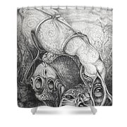 Ctulhu Seedpods Shower Curtain