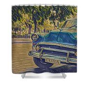 Cuba Car Shower Curtain