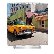 Classic Cuba Cars IIi Shower Curtain