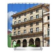 Cuban Building. Shower Curtain
