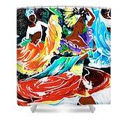 Cuban Dancers - Magical Rhythms... Shower Curtain