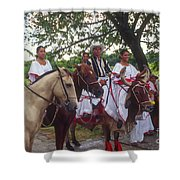 Cuban Entertainment  Shower Curtain