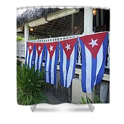Cuban Flags Shower Curtain