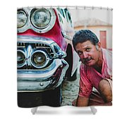 Cuban Mechanic Shower Curtain