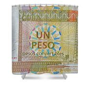 Cuban Peso Shower Curtain