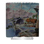 Cuban Refugee Raft  3 Shower Curtain