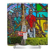 Cuban Street Art Shower Curtain