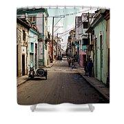 Cuban Street Shower Curtain