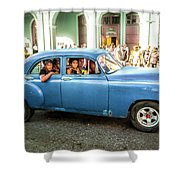 Cuban Taxi Shower Curtain