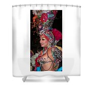 Cuban Tropicana Dancer Shower Curtain