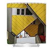 Cube Houses Detail In Rotterdam Shower Curtain