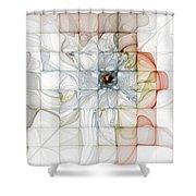 Cubed Pastels Shower Curtain