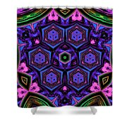 Cubic Kaleidoscope Shower Curtain