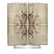 Cubicious Mind Shower Curtain