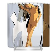 Cubism Series Xvi Shower Curtain