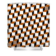 Cubism Squared Shower Curtain