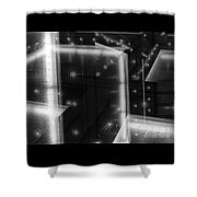 Cubistic Aspect Of Reflective Light Shower Curtain