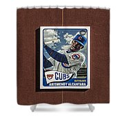 Cubs Card Collection Shower Curtain