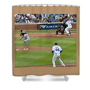 Cubs - Eye On The Ball Shower Curtain