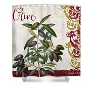 Cucina Italiana Olives Shower Curtain