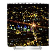 Cuenca's Historic District At Night Shower Curtain