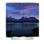 Cuernos Sunrise Part 1 - Chile Shower Curtain