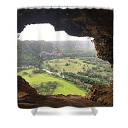 Cueva Ventana Shower Curtain
